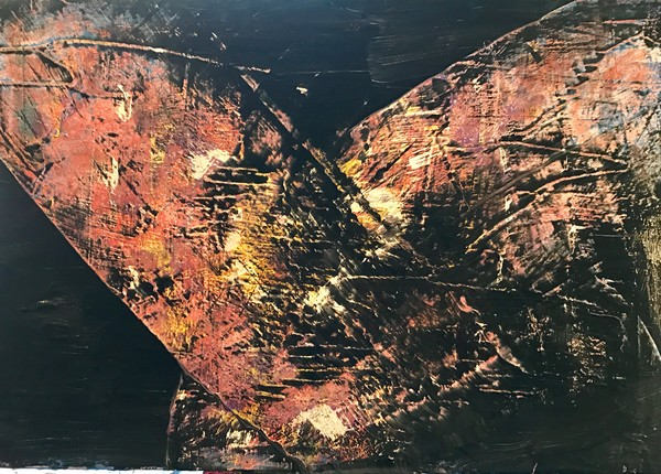 Birth| Abstract painting by Christina Culverhouse