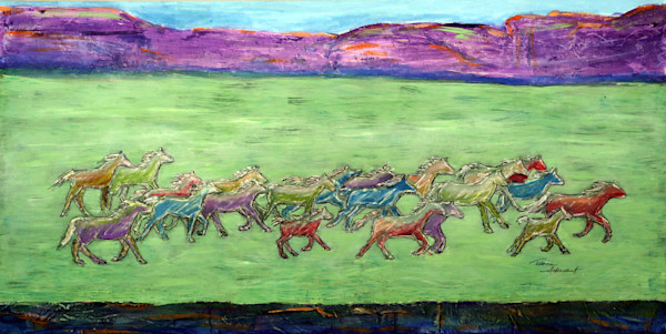 Wild-Horses-1,  Painting of Wild Horses, Fine Art and Paintings for Sale by Teena Stewart of Serendipitini Studio