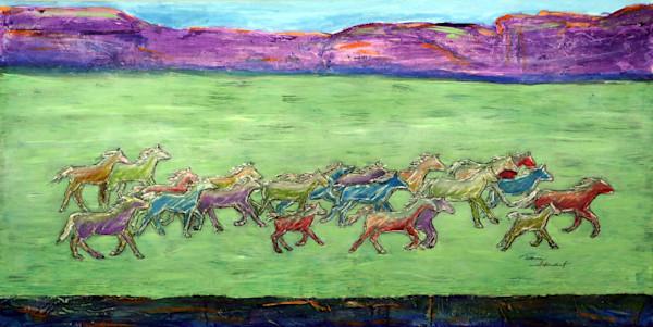 Wild-Horses-1,  Wild Horses, Art for Sale by Teena Stewart of Serendipitini Studio