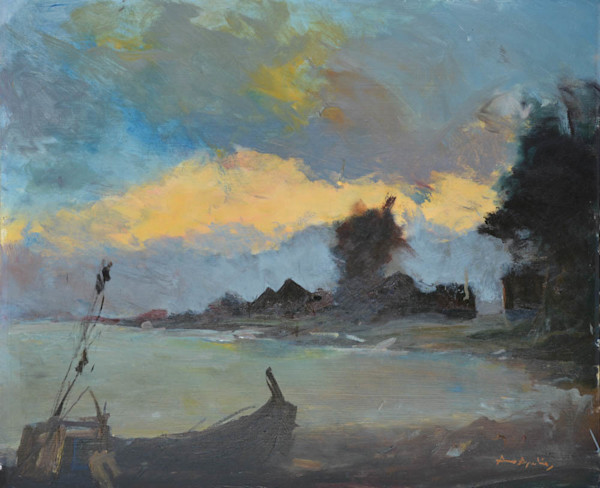 Evening Coastal Scene