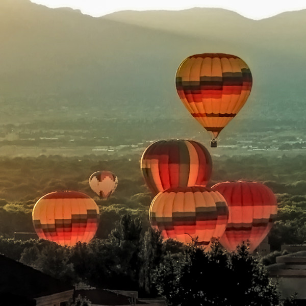 Balloons Lifting Off From Bosque, d'Ellis Photographic Art photographs, Bill