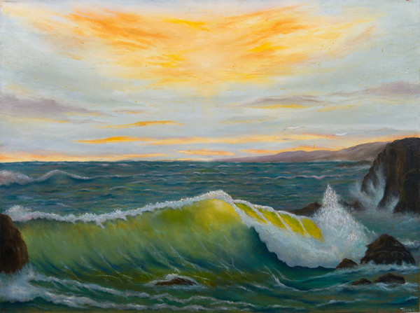 Seascape Landscapes Art Prints and Original paintings for purchase by Antonio Davis Mouth Painter