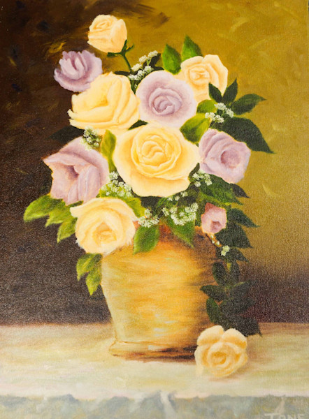 Flower ''art'' and ''paintings'',  Floral ''art'' and ''painting'', Antonio Davis Mouth Painter