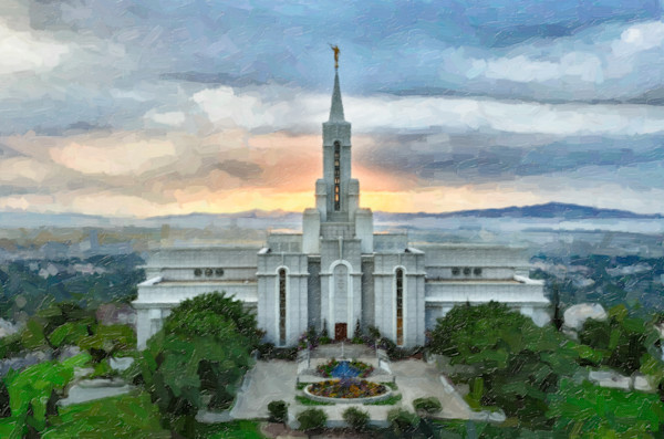 Life Everlasting -Bountiful Utah LDS Temple art
