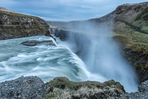 Gullfoss - a beautiful iceland photo taken during summer solstice with Colby Brown and Ken Kaminesky