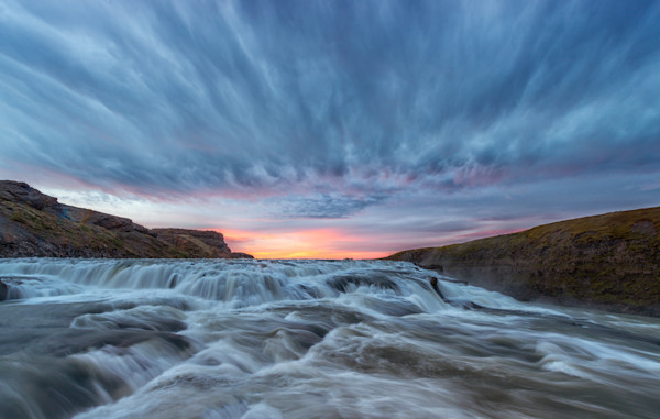 Gullfoss at Sunrise - Iceland Fine Art Photography taken on an Iceland photo tour