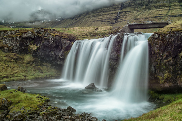 Charming Iceland Waterfall located close to Kirkjufell Mountain