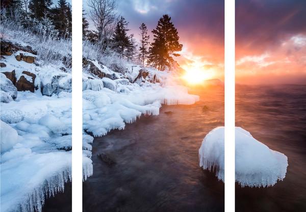 Ethereal sunrise along Lake Superior
