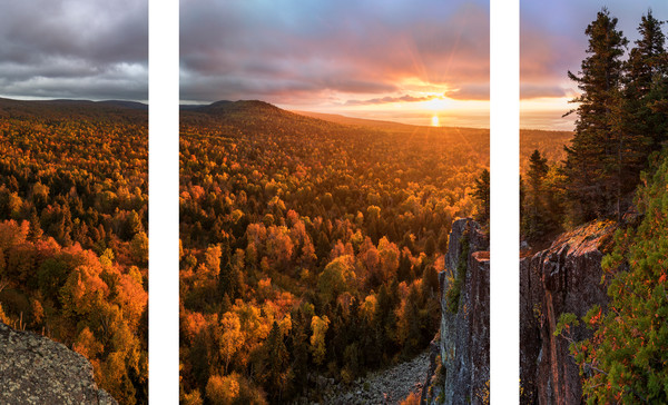 Autumn sunrise from Oberg Mountain