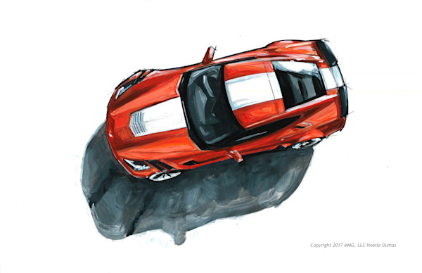 corvette 2017 painting