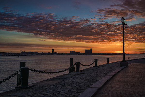 Fan Pier Boston facing Logan sunrise 1