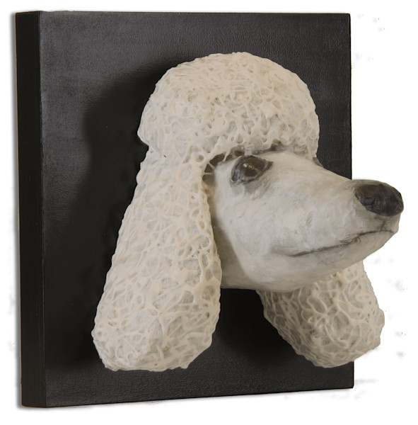 Buy a paper mache Poodle Head for a fun wall.