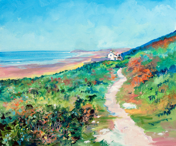 Art print of The Old Rectory, Rhossili