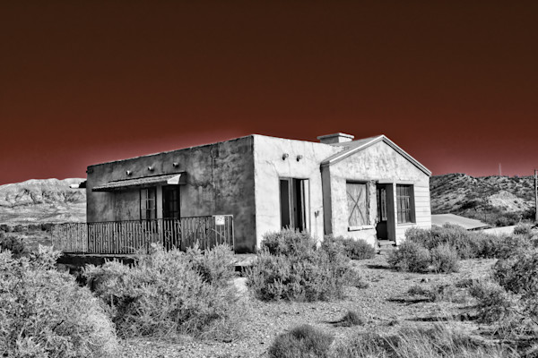 Home Sweet Home - Black and White Photograph, New Mexico Historical Art