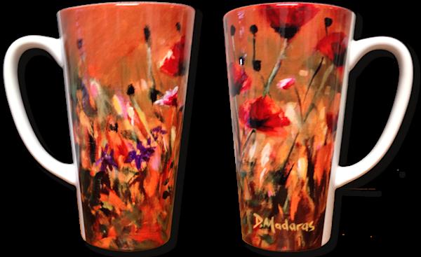 Poppies - 17 oz. Latte Mug