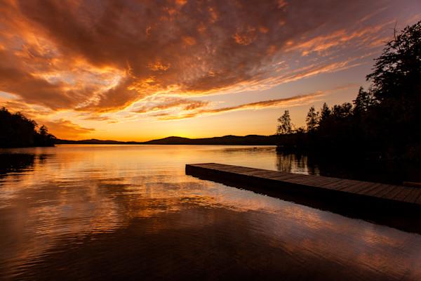 7th Lake boat launch  Sunset Horizontal