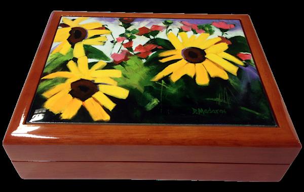 Wooden Keepsake Box | Southwest Gifts | Three Sunflowers