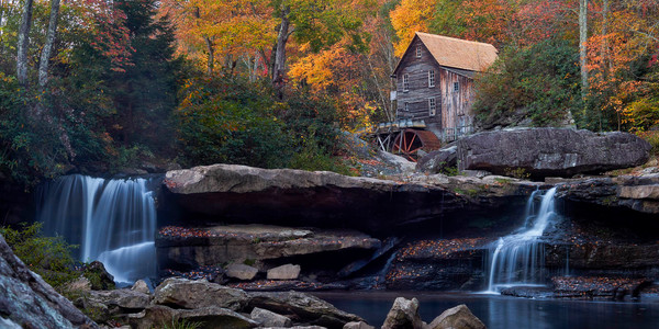 Dawn at Glade Creek Mill