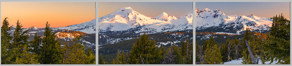 Cascade Triplet II (171735LND8-SI) Oregon Cascade Mountain Fine Art Photograph for Sale as Print