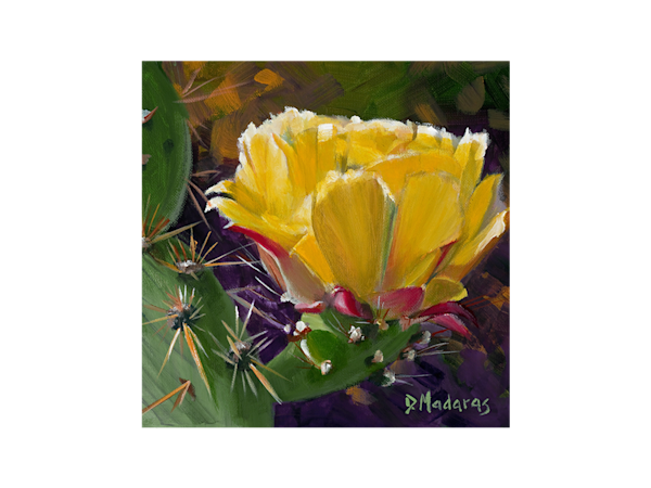 Prickly Pear Bloom Glass Trivet