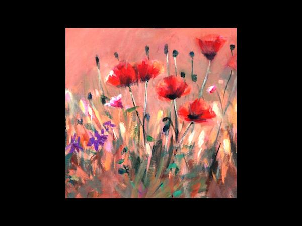 Poppies Glass Trivet | Tucson Art