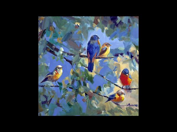 Five Birds Glass Trivet