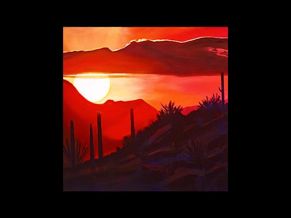Howard's Sunset | Glass Trivet