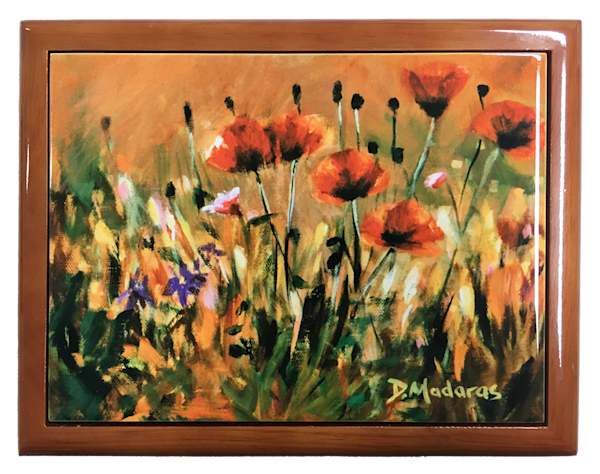 Wooden Keepsake Box | Southwest Gifts | Poppies