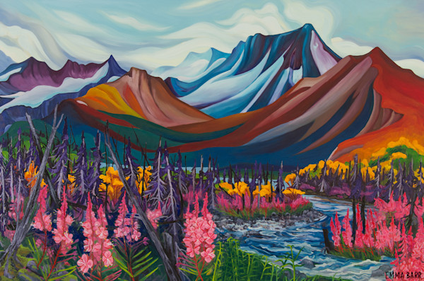 Mount Itsi Queen of the North Canol | Deluxe Canvas Print | Emma Barr Fine Art