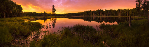 Twin Ponds Sunrise Panoramic