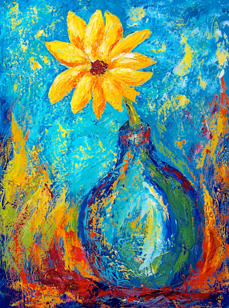 Colorful, often whimsical floral paintings by Claudia True. Fine art reproductions available on canvas, paper and metal.