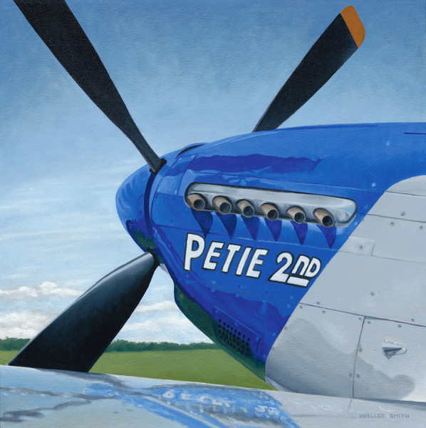P-51 Mustang | Original Oil Painting | War Hero: Petie 2nd | Fine Art Prints