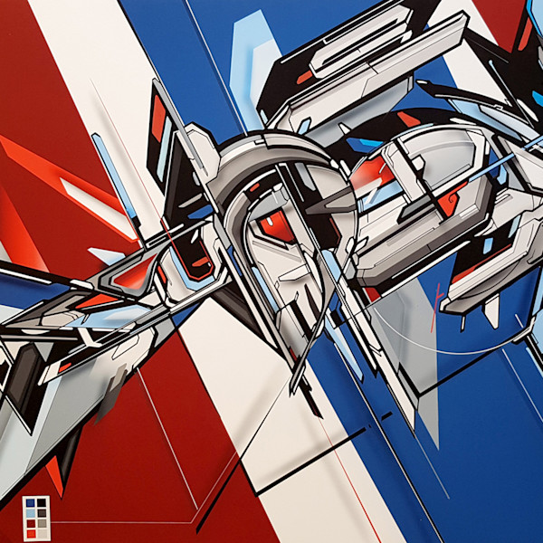 ASERTA REPRISE, hybrid artwork, giclée, fine art print, original art