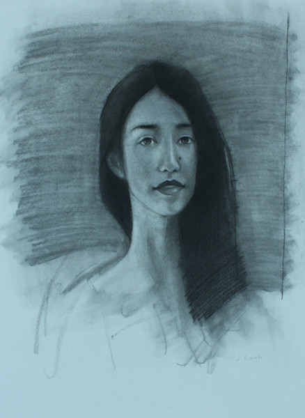Shop for original drawings like Wide Lovely Eyes, charcoal on paper by Jeremy Couch at Matt McLeod Fine Art Gallery.