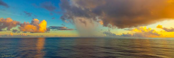 Photograph,Sunrise, Moorea, French Polynesia