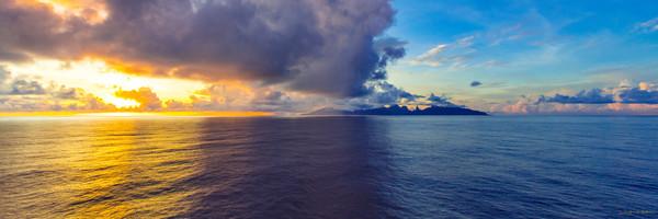Photograph, Sunrise, Moorea, French Polynesia