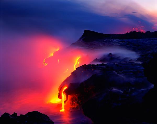 Photograph, Kilauea Volcano, Hawaii Volcanoes National Park, Island of Hawaii, Hawaii, USA