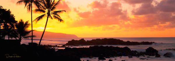 Sunset, North Shore, Oahu, Hawaii, USA