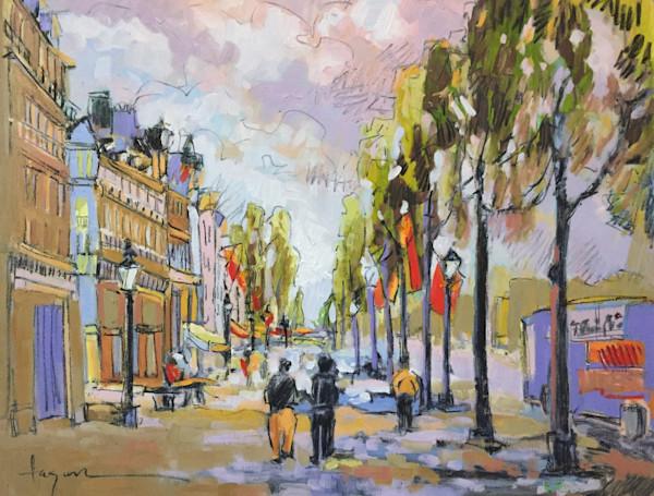 Morning in Paris - Original Painting Champs Elysees, Paris Dorothy Fagan