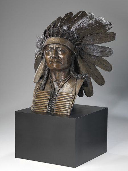 Plains Indian chief limited edition bronze by Robin Richerson