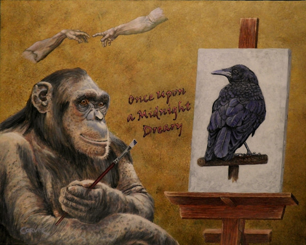 Darwin Paints a Portrait of Poe
