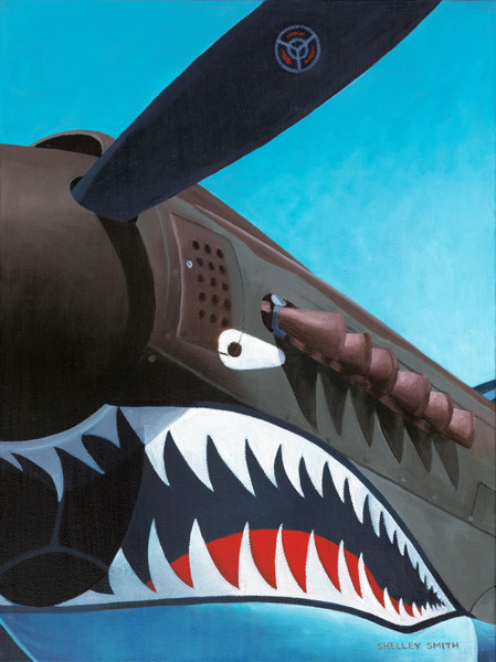 Warbird with a Bite | P-40 Warhawk Painting | Fine Art Prints