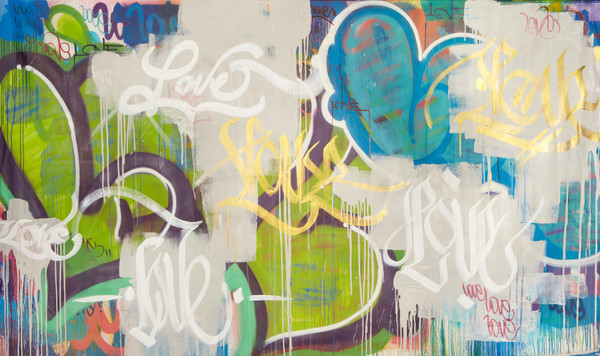 Love Is Gold | Graffiti Inspired Art by Karlos Marquez