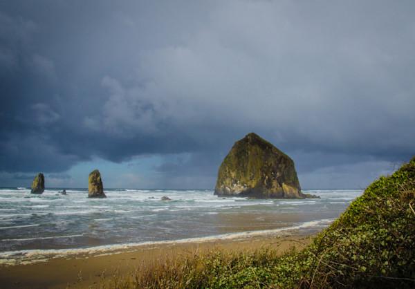 stormy Haystack Rock