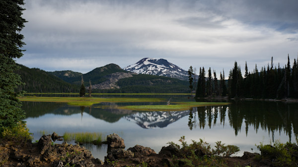 Sparks Lake Sisters reflection photo for sale by Barb Gonzalez Photography