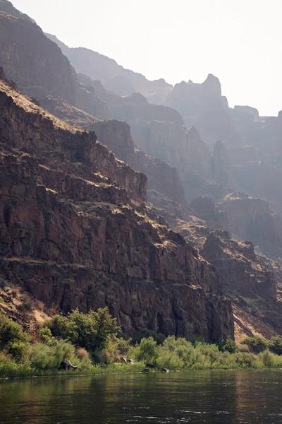 Photograph of Basalt Walls along the John Day River