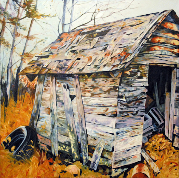 Shed by Richard Jacobson | SavvyArt Market original painting