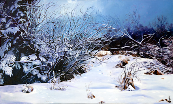 Last Snow by Richard Jacobson | SavvyArt Market original painting