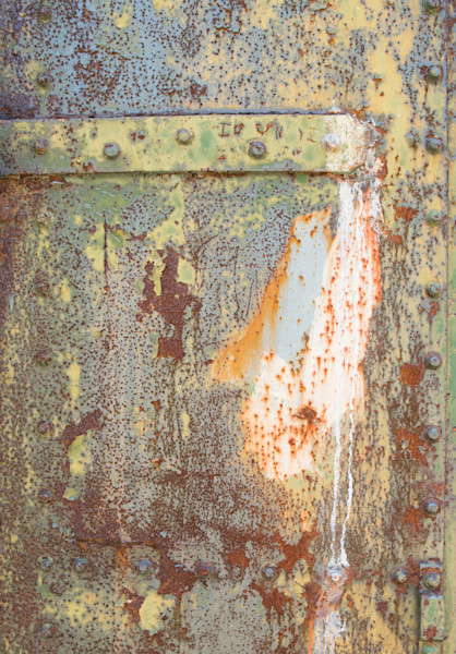 rusted bunker door