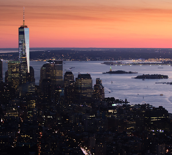 Sunset over Manhattan Photo for sale: Barb Gonzalez photography